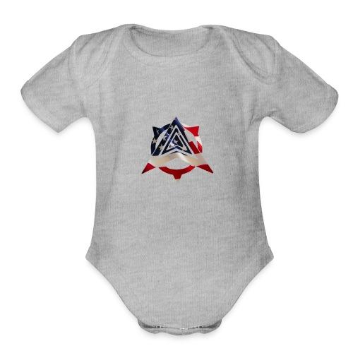 United States Flag - Organic Short Sleeve Baby Bodysuit