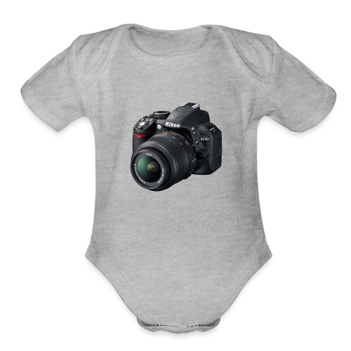 photographer - Organic Short Sleeve Baby Bodysuit