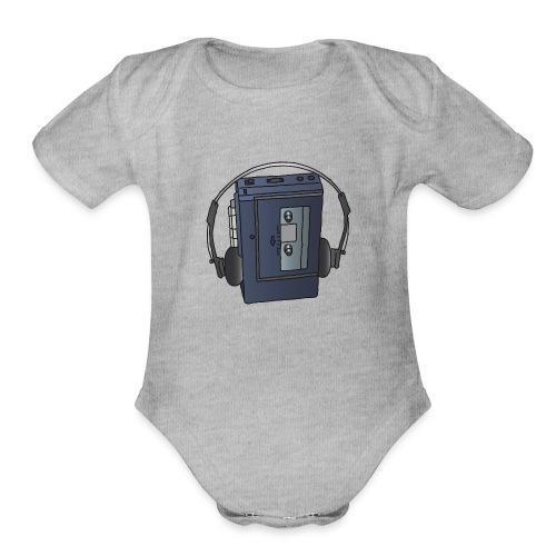 WALKMAN cassette recorder - Organic Short Sleeve Baby Bodysuit