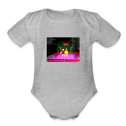 a roblox moment - Organic Short Sleeve Baby Bodysuit