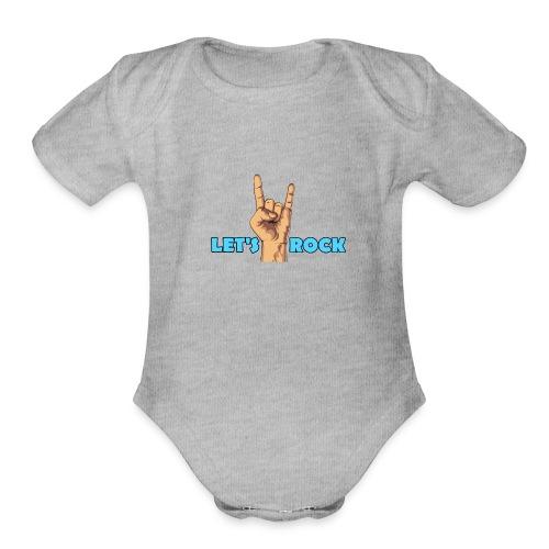 Let's Rock - Organic Short Sleeve Baby Bodysuit