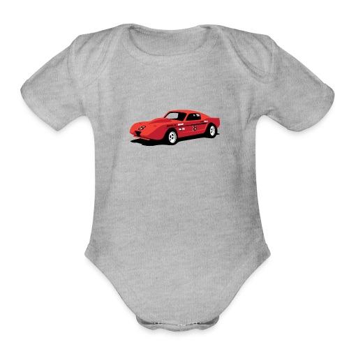 Vintage Hill Climb Race Car - Organic Short Sleeve Baby Bodysuit