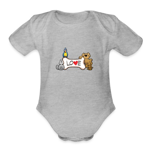 Pet Love - Organic Short Sleeve Baby Bodysuit