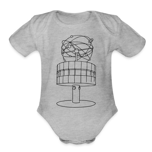 World time clock Berlin - Organic Short Sleeve Baby Bodysuit