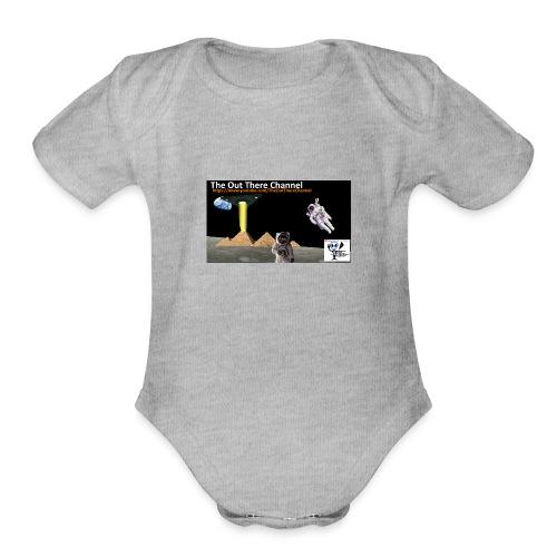 UFO Pyramids2019 TheOutThereChannel - Organic Short Sleeve Baby Bodysuit