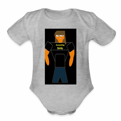 Accounting Rocks - Organic Short Sleeve Baby Bodysuit