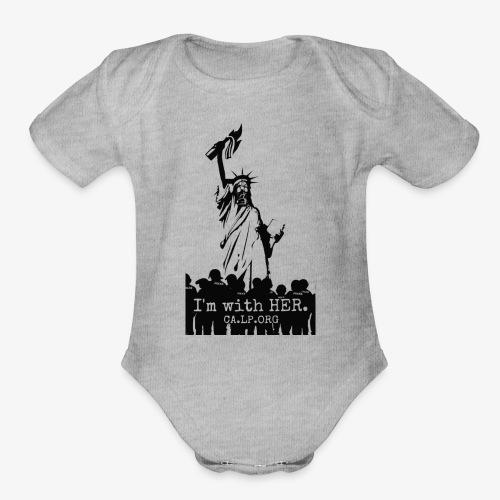CA Liberty - Organic Short Sleeve Baby Bodysuit