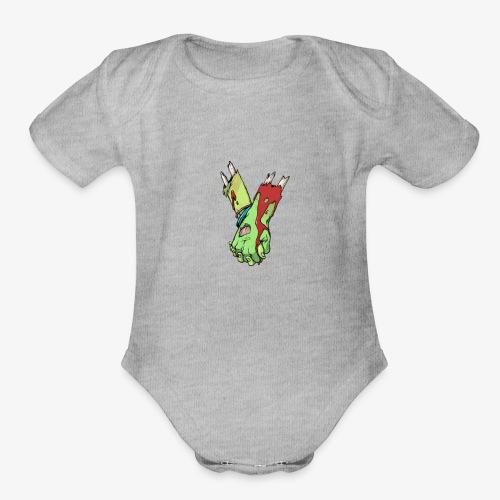 zombie love - Organic Short Sleeve Baby Bodysuit