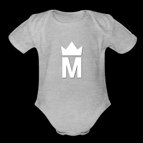 White Majesty Logo - Organic Short Sleeve Baby Bodysuit