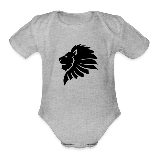 BLACK_LION - Organic Short Sleeve Baby Bodysuit