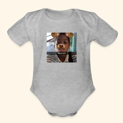 k - Organic Short Sleeve Baby Bodysuit