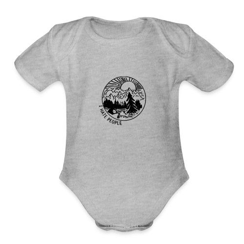 hate people merch - Organic Short Sleeve Baby Bodysuit