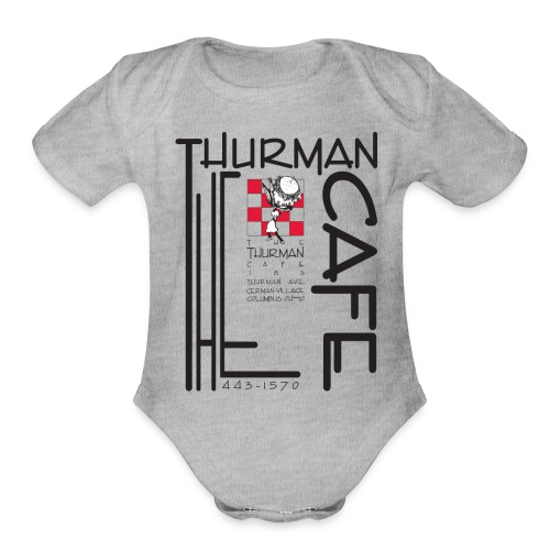 Thurman Cafe Traditional Logo - Organic Short Sleeve Baby Bodysuit