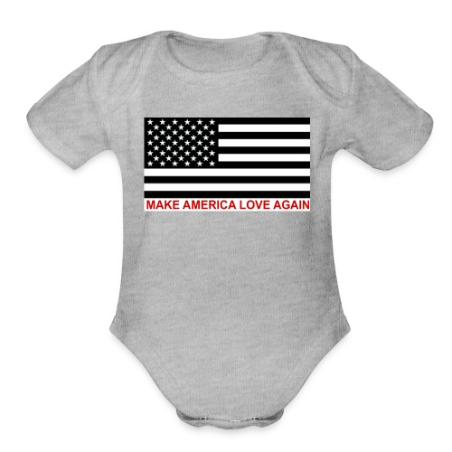 Great America - Organic Short Sleeve Baby Bodysuit