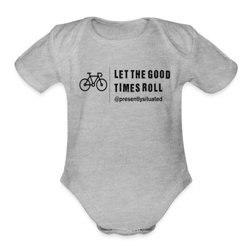 good times bike - Organic Short Sleeve Baby Bodysuit