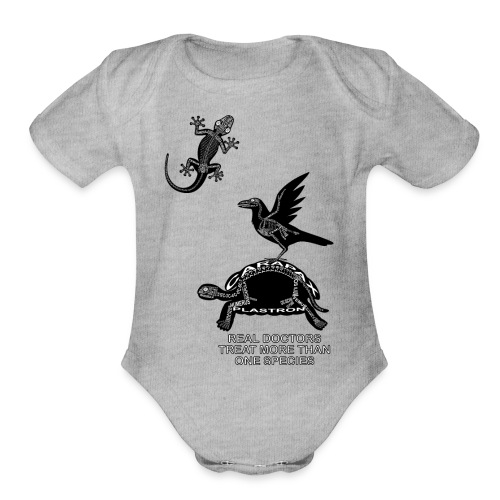 Real Doctors ... Exotic - Organic Short Sleeve Baby Bodysuit