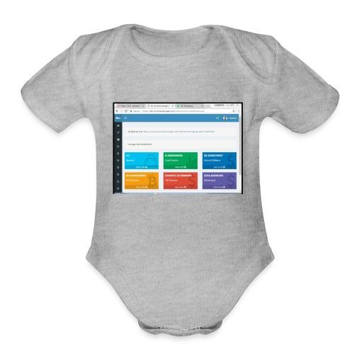 Earning - Organic Short Sleeve Baby Bodysuit