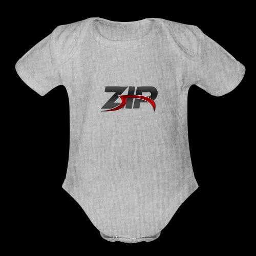 ZIP - Organic Short Sleeve Baby Bodysuit