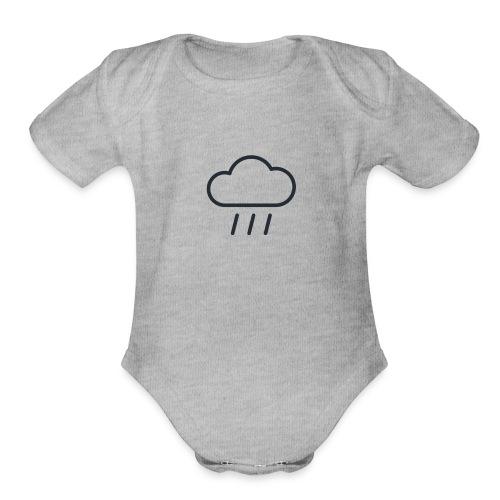 Weather Rainy - Organic Short Sleeve Baby Bodysuit