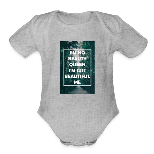 Pretty lil me - Organic Short Sleeve Baby Bodysuit