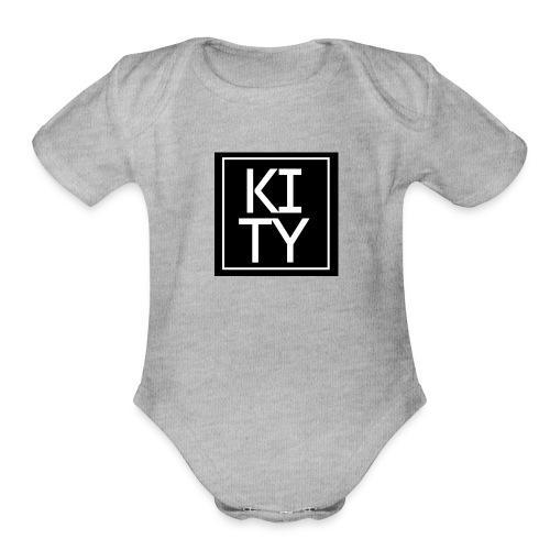Kity na kvadrat - Organic Short Sleeve Baby Bodysuit