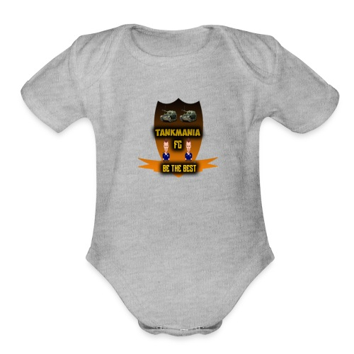 tankamania logo - Organic Short Sleeve Baby Bodysuit