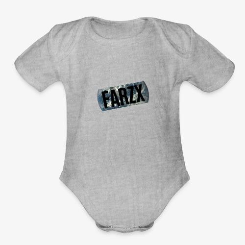 FARZX LOGO PNG - Organic Short Sleeve Baby Bodysuit