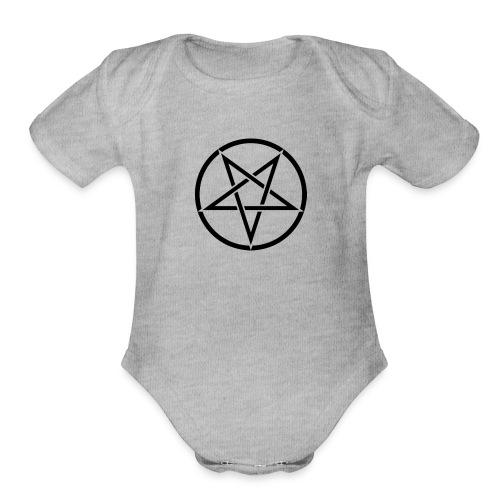 Inverted Pentagram - Organic Short Sleeve Baby Bodysuit