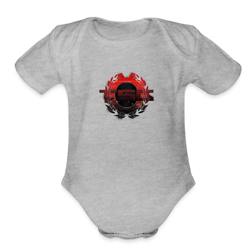 Tragiic Sniping Gaming - Organic Short Sleeve Baby Bodysuit