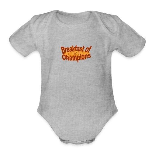 Breakfast of Champions - Organic Short Sleeve Baby Bodysuit