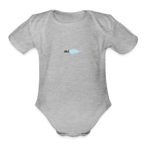 Oh! Whale - Organic Short Sleeve Baby Bodysuit
