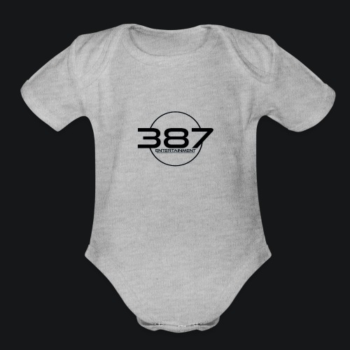 387 Entertainment Black - Organic Short Sleeve Baby Bodysuit