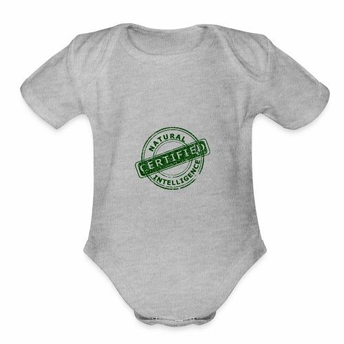 Natural Intelligence - Organic Short Sleeve Baby Bodysuit