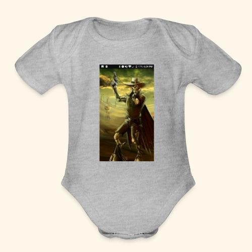 GUN SLINGER CYBORG MERCH - Organic Short Sleeve Baby Bodysuit
