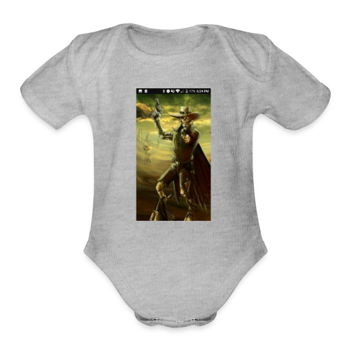 GUN SLINGER CYBORG MERCH - Organic Short Sleeve Baby Bodysuit