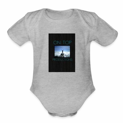ot logo - Organic Short Sleeve Baby Bodysuit