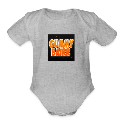 gummybairr logo - Organic Short Sleeve Baby Bodysuit
