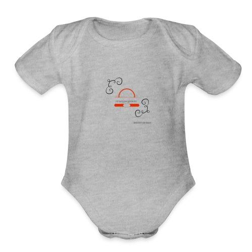 Crazyjoegrover logo - Organic Short Sleeve Baby Bodysuit