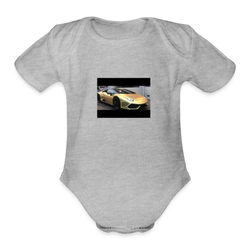 Ima_Gold_Digger - Organic Short Sleeve Baby Bodysuit