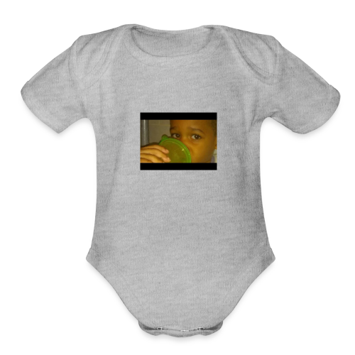 SADIR FACE - Organic Short Sleeve Baby Bodysuit