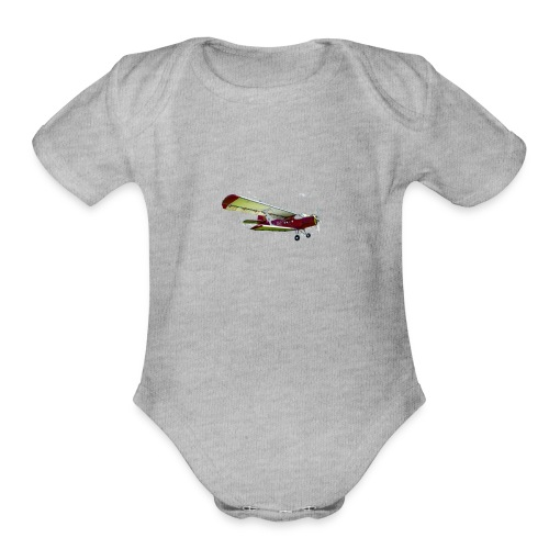 Airplane - Organic Short Sleeve Baby Bodysuit