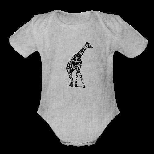 giraffe - Organic Short Sleeve Baby Bodysuit