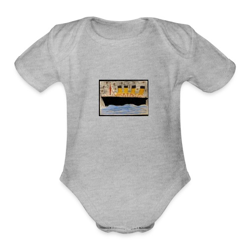 Titanic ship paint - Organic Short Sleeve Baby Bodysuit