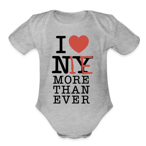 I love Me - Organic Short Sleeve Baby Bodysuit