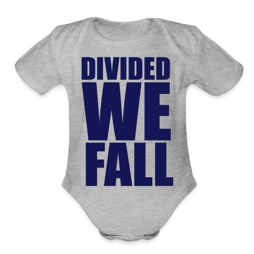 DIVIDED WE FALL - Organic Short Sleeve Baby Bodysuit