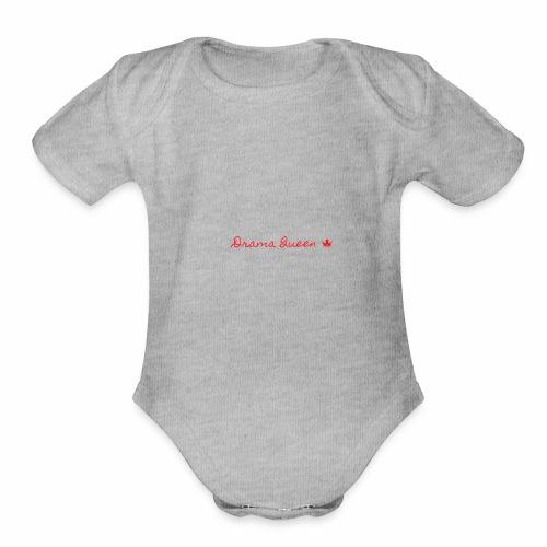 DRAMA QUEEN - Organic Short Sleeve Baby Bodysuit