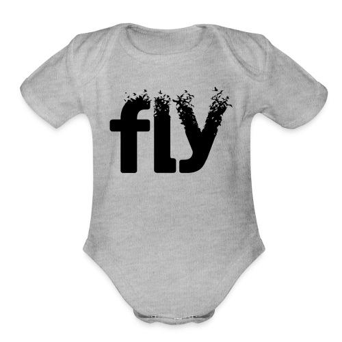 Fly - Organic Short Sleeve Baby Bodysuit