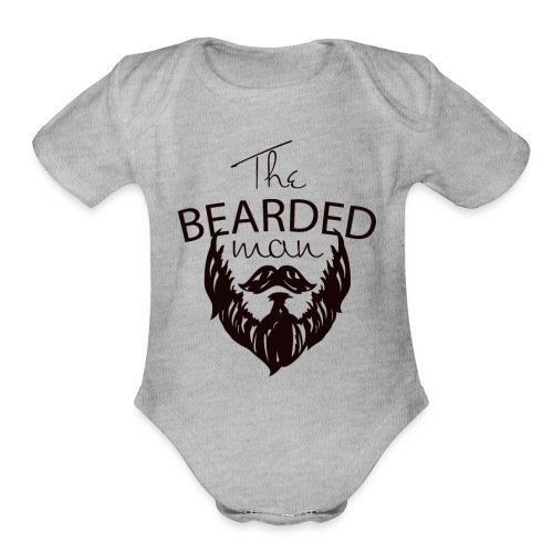 The bearded man - Organic Short Sleeve Baby Bodysuit