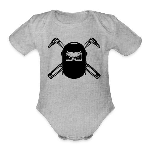 Welder Skull - Organic Short Sleeve Baby Bodysuit