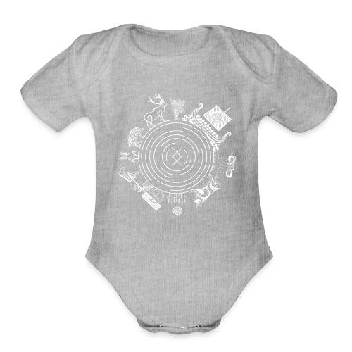 Freyr - God of the World - Organic Short Sleeve Baby Bodysuit